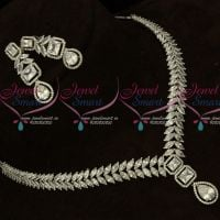 Diamond Jewellery Inspired Imitation Collections Latest Silver Plated Sparkling Stones