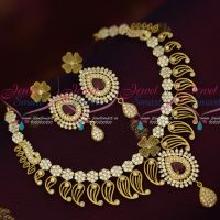 Antique AD Fashion Jewellery Latest Fusion Design Latest Designs Ruby White Stones