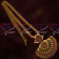 South Indian Gold Covering Jewelry Attiga Style Ghajiri Chain Pendant Shop Online