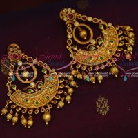 Latest Offer Price Chand Bali Matte Gold Finish Imitation Jewelry Designs Online