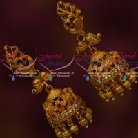 Low Price Floral Design Jhumka Earrings Antique Fashion Jewellery Online
