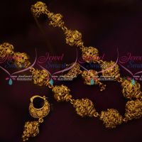Nakshi Work Antique Metal Heavy Beads Mala Traditional Design Jewelry Online
