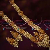 Pearl Danglers Jewellery Mugappu Chain Temple Pendant Matching Earrings Traditional Design Online