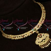 AD Traditional Gold Finish Imitation Attiga South Indian Designs Online