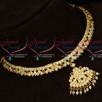 Thick Metal Handmade South Indian Attigai Gold Plated Imitation Jewelry Online