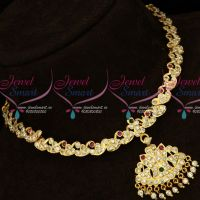 South Indian Traditional Concept Imitation Handmade Attiga Jewelry Online