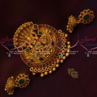 Lord Vinayagar Ganapathy Design Pendant Small Jhumka Earrings Temple Traditional Jewelry Online