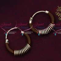 92.5 Silver Jewellery Small Bali Hook Brown Earrings Kids Daily Wear Jewelry Online
