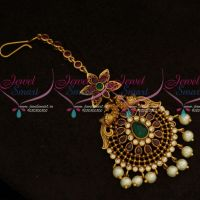 Peacock Design Antique Matte Nethi Chuti Maang Tikka Traditional Jewelry Online