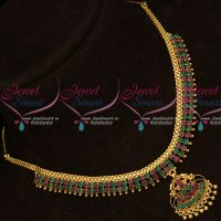 AD Attiga Style South Indian Casual Wear Necklace Gold Covering Jewelry Online