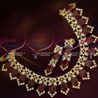 Ruby White Marquise AD Stones Latest Stylish Fashion Jewellery Set Online