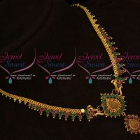 South Indian Fancy Gold Plated Daily Wear Necklace Set Shop Online