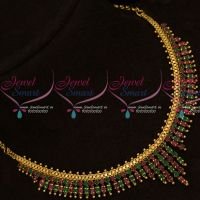 Marquise Stones South Indian AD Fancy Gold Covering Jewellery Set Online