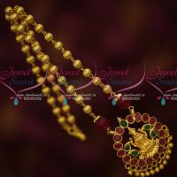 Red Green Stones Temple Beaded Jewelry Gold Plated Low Price Traditional Design Online