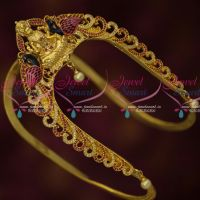 One Gram Gold Temple CZ Hand Painting Traditional Vanki Latest Design South Jewellery