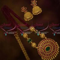 6 Strand Real Crystal Beads Beaded Jewellery Set Matching Jhumka Earrings Online