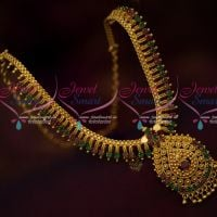 Daily Wear South Indian Imitation Gold Covering Jewellery Short Necklace