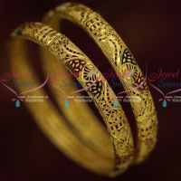 Gold Plated South Covering Meenakari Bangles Delicate Finish Online