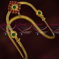 South Indian Kemp Jewellery Traditional Vanki Simple Gold Design Online