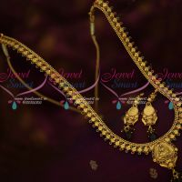 Thin Delicate Antique Haram Floral Chain Temple Pendant Traditional Jewelry Online