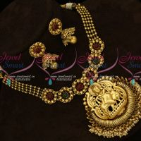 Lord Krishna Kemp Red Green Stones Gold Plated Finish Real Look Antique Jewellery Jhumka Online
