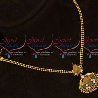 South Indian Gold Covering Ball Chain Small Pendant Daily Wear Jewellery