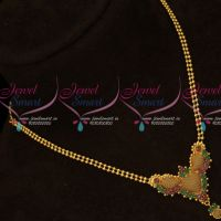 Fancy Ball Chain AD Embossed Design Pendant Latest South Indian Jewellery Online