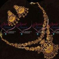 Matte Gold Finish Antique Layer Necklace Latest Fashion Jewellery Online