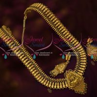 Traditional Gold Design Antique Bridal Broad Haram Temple Jewellery Collections Online