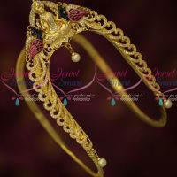 Traditional South Indian Bridal Jewellery Gold Finish CZ Temple Vanki Premium Collections