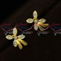 Small Size Floral Design Two Tone Plated Floral Design Earrings Micron Plated Regular Wear