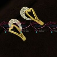 Small Size Stylish Daily Wear Micron Gold Covering Earrings Online