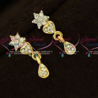Small Size Trendy Daily Wear Micron Gold Covering Earrings Online