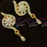 Floral Design Trendy Daily Wear Micron Gold Covering Earrings Online