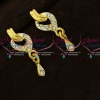 Trendy Daily Wear Micron Gold Covering Earrings Online