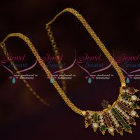 South Indian Covering Chain AD Stones Pendant Fancy Jewellery Designs Online