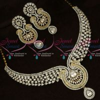 American Diamond Dazzling Necklace Set Gold Inspired Jewellery Shop Online