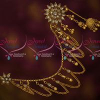 Bahubaali Jewelry Polki Mattal EarChains Latest Bridal Antique Shop Online