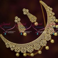 Floral Design AD Sparkling Stones Jewellery Designs Party Wear Collections