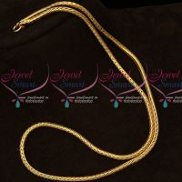 South Indian Gold Covering Thali Kodi Chain 3 MM 24 Inches Daily Wear Jewelry Online