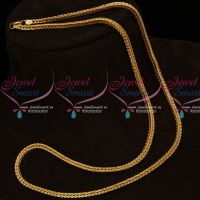 Gold Covering Square 3 MM Thick 24 Inches Length Fancy Cutting Chains Shop Online