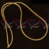 Rounded Square Shape Fancy Thali Kodi Chain Gold Covering Daily Wear Jewelry Online