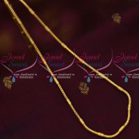 2 MM Thick South Indian Fancy Kodi Chain Daily Wear Gold Covering Chains