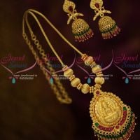 Gold Inspired Temple Jewellery Design Crystal Double Layer Kodi Chain Pendant Set