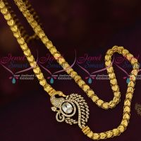 White AD Stones Mugappu Model Fancy Covering Chain South Indian Jewelry Online