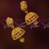 Small Size Artificial Jhumkas Latest Trendy Imitation AD Jewellery Online