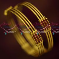 Ruby 3 Line String Bangles Simple Elegant Stylish Imitation Jewellery Shop Online
