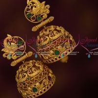 Big Broad Intricately Designed Peacock AD Stones Jhumka Earrings Latest Fashion