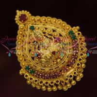 Temple Gold Covering AD Stones Pendant South Indian Low Price Hair Accessory Online