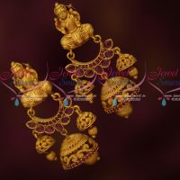 Temple 2 Step Jhumka Earrings Latest Traditional Jewelry Designs Online